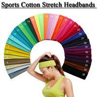 Wholesale headbands u pick for sale - Group buy Cotton Stretch Headbands U PICK Yoga Softball Sports Soft Hair Band Sweatband