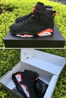 Wholesale Infrared Carbon - Retro 6s Black Infrared 6 3M Carbon Fiber Top Quality AAA With Box free shipping Wholesale Basketball Shoes Men