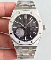 Wholesale Womans Buckles - New Womans Luminous Watch JF Factory Swiss Quartz Eta Ladies Black Dial Calendar Full Steel Royal 67650 Watches Ladys Sapphire Wristwatches