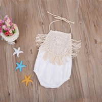 Wholesale Summer Baby Girls Clothing - Baby Romper Set Toddler Outfit Infant Onesies Children Boutique Clothes Kid Girl Clothing Summer Leotards Overall