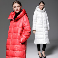 Wholesale High Waist Bamboo - 2018 white right x-long thick womens down jackets down parkas women winter coats winter jackets high quality winter womens outweaer coats