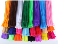 Wholesale Montessori Materials Wholesale - 2018 10pcs lot Montessori Materials Chenille Stems DIY Toys Animals Soft Plush Educational Toy Chenille Stem For Kids