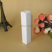 Wholesale Perfume Bottle Packaging Boxes - 100pcs-1.7*1.7*8.6cm Blank White kraft Paper Box DIY Lipstick Perfume Essential Oil Bottle Storage Box valve tube package