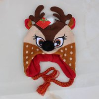Wholesale Cheap Newborn Baby Hats - New Santa Claus Father Christmas Children Caps Autumn Winter baby Boys Girls Kids Cap Wholesale Baby Hat Christmas hats cheap caps A1302