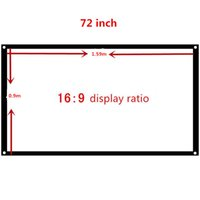 Wholesale 72 inch Fabric Matte White Projector Projection Screen For Home Theater PPT