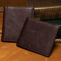 Wholesale Vintage Faux Fur Purse - Real Leather Wallet Men Organizer Wallets Brand Vintage Genuine Leather Cowhide Short Men's Wallet Purse With Coin Pocket