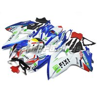 Wholesale Complete Injection ABS Plastic Fairing Kits For Suzuki GSXR600 GSXR750 K8 Fairings White Blue Red Sportbike