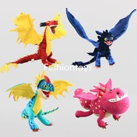 Wholesale Genuine Videos - Genuine How to Train Your Dragon 2 50cm Toothless Night Fury Stormfly Hookfang Meatlug Dragons Riders of Berk Plush Doll Stuffed toy