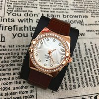 Wholesale Imitation Wristwatches - Famous Brand Women watches Genuine Leather New Style Nobel Female Bracelet lady Wristwatches Luxury Imitation Conch Hot Items free shipping