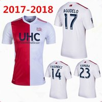 Wholesale Red Revolution - thai quality 2017 MLS New England soccer jerseys 2017 2018 New Arrival England Revolutions white with red Football shirts
