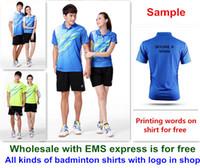 Wholesale li ning badminton for sale - Group buy new Li Ning badminton shirt clothes sport table tennis shirt clothes