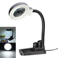 bureau loupe éclairé achat en gros de-Longue durée de vie Magnifying Crafts Lampe de table en verre avec lampe de table avec loupe 5X 10X avec éclairage LED 40 LEG_300