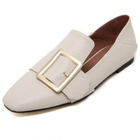 Wholesale High Platform Creepers Shoes - High-Quality Sexy Black Beige Women Loafers Pointed Toe Platform Flats Patent Leather Shoes Creepers Slip On Shoes Woman. ZSN008