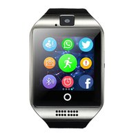 Wholesale Tf Card Camera - Q18 Passometer Smart Watch with Touch Screen Camera TF Card Bluetooth Smartwatch for Android IOS Phone