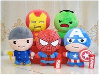 Captain America Peluches de animais de peluches The Avengers Superman Spiderman Batman Brinquedos de pelúcia Marvel Heros Figura de ação Presentes infantis F021