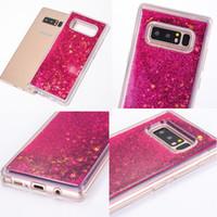 силиконовый блеск оптовых-Premiun ТПУ Чехол Для Samsung Galaxy Note 8 Moving Stars Жидкий Мягкий Ультра Тонкий Силиконовый ТПУ 3D Блеск Блестящий Bling Телефон Назад Чехол