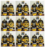 Wholesale 2017 Stanley Cup Champions Pittsburgh Penguins Hockey Jerseys Sidney Crosby Phil Kessel Evgeni Malkin Patric Hornqvist Cheap
