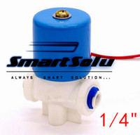 Wholesale Valve Machine - 2 way Plastic water dispenser micro solenoid valve 1 4 pipe 24V 12V DC flow control for RO machine water purifier