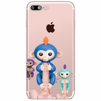 Wholesale Iphone Soft Monkey Case - Fingerlings Interactive Baby Farts Monkey Soft Clear transparent TPU Case for iPhone X 10 8 7 6 6s Plus 5S 5C cover
