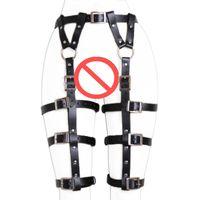 Wholesale leather belt loops online - New Design LEATHER LEG HARNESS GARTERS Bondage Thigh Loop Harness Waist Belt Straps Garter Belt Sexy Hot Erotic Harness Belts for Women