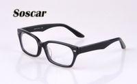 Wholesale Eyeglasses Luxury For Men - Soscar 5130 Sunglasses Frames for Men Women Brand Designer Myopia Eyewear Eyeglass High Quality Plank Frame with Luxury Box