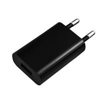 adaptador para carregador do telefone venda por atacado-Alta qualidade 5 V 1A preto Universal Plug UE USB Carregador de Parede AC Power Adapter para i 4 5 Carregadores USB celular