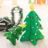 Wholesale Musical Lights For Christmas - Wholesale- 33cm Light music Christmas tree Plush Toy Luminous Musical Plush Toys for Xmas Gifts