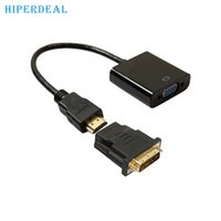 Wholesale Tablet Hdmi Vga Cable - Wholesale- HIPERDEAL Advanced DVI-D 24+1 Pin Male To HDMI To VGA 15Pin Female Active Cable Adapter Converter 2017 hot sales tablets 1PC