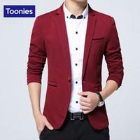 Wholesale Top Mens Suits Brands - Wholesale- Blazer Masculino Slim Fit Men Jacket New 2017 Brand Clothing Costume Homme Single Button Fashion Suit Casual Mens Blazers Tops