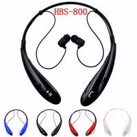 marka mikrofon toptan satış-HBS800 Bluetooth Kulaklık Spor Kablosuz Kulaklık Handsfree Mikrofon ile Boyun Bandı Tarzı Kulaklık iphone XIAOMI Ultra Marka