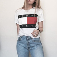 Wholesale Top Wholesale Clothing For Women - Wholesale Women Summer T Shirt Short Sleeve T Shirt For Women Letters Printing Shirt Tops Lady Pullover Cotton Tops Women Clothing Tees