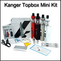 Wholesale Kanger Mini Pro Tank - Top quality Kanger topbox Mini 75W Kit Pro Starter Kit Top Refilling Tank&75Watt TC Mod KangerTech Beginner Kit