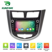 Wholesale Dvd For Hyundai Accent - Octa Core 1024*600 Android 6.0 Car DVD GPS Navigation Multimedia Player Car Stereo for Hyundai Verna Accent Solaris 2011 2012 Radio