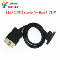 Wholesale Red Cdp - Wholesale- Best Quality OBD II Car Cable LED OBD2 Cable Suitable for red and black TCS CDP PRO PLUS