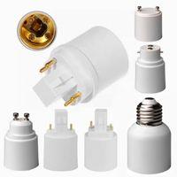 Wholesale E27 Holders - High quality GU24 B22 GU10 G23 G24 to E27 adapter 2pins G24d GX24d 4pins G24q GX24q E26 to E39 E40 led bulbs holder