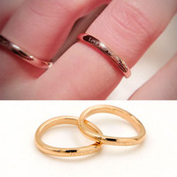 Wholesale Now Wedding - On Sale Now OL Fashion Jewelry Europe America 316L Titanium Steel Ring Jewelry Special Ring Love u for infinity for women Styles Free Shipp