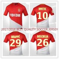Wholesale Beat Man - 2017 2018 BEAT QUALITY MEN MONACO FALCAO MBAPPE LEMAR camisetas futbol camisa maillot de foot survetement uniform SOCCER JERSEY