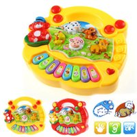 Wholesale Music Piano Animal Farm - keyboards&piano music instrument toy Baby Kid Musical Educational Animal Farm Piano Developmental Music Toy Gift KY