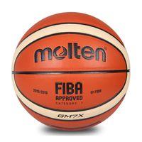 литье в коже оптовых-Оптовая расплавленный баскетбол GM7X размер 7 искусственная кожа баскетбол мяч спорта на открытом воздухе обучение мяч для Кубка мира матч