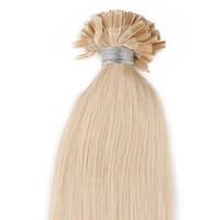 предварительные склеивания волос оптовых-Pre скрепленные кончик наращивание волос человека 50г U-наконечник наращивание 100 прядей pre-скрепленные кончик ногтя предварительно таможенный наращивание волос ногтей лучшие расширения