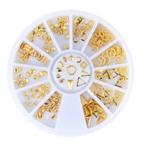 Wholesale Triangle Nail Stud - New Nail Art Decorations Sanding Metal Waterdrop Stud Triangle Round 3d Nail Decoration Manicure Accessoires Steering-wheel 2017