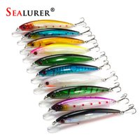 10Pcs / Lot 13.5G 11Cm Fishing Lure Minnow Lures Hard Bait Pesca Pesca Tackle Isca Artificial 10Colors Qualidade Gancho Swimbait