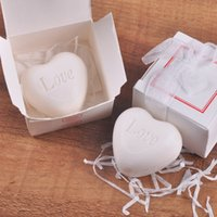 Wholesale Shaped Scented Soap - Handmade Scented Mini White Love Heart Shape Soap For Wedding Party Birthday Souvenirs Gifts Favor white box packing