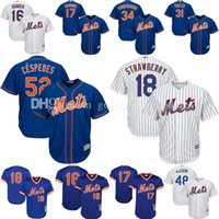Wholesale New 52 - Men's New York Mets Noah Syndergaard 52 Yoenis Cespedes Jacob deGrom Mike Piazza Darryl Strawberry Dwight Gooden Keith Hernandez Jersey