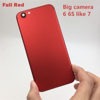 Wholesale New Full Housing Cover - New Full Red Housing for iPhone 6 LIKE 7 FULL Red Housing battery Door Cover Replacement For iPhone 6s Green like i7