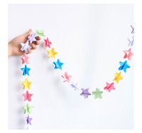Wholesale Wedding Supplies Butterfly Decorations - Wholesale- wedding decoration heart butterfly star shape tissue garland string paper home birthday decorate bunting baby shower supplies