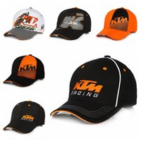 Wholesale Ktm Hats - 2017 Moto GP Letters KTM Racing Baseball Caps Motocross Riding Sports Hats For Mens Snapback Caps Hip Hop Sun Hats 6Colors