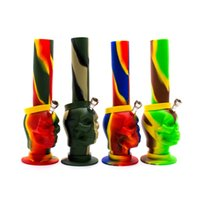 Wholesale Water Washable - Wholesale Newest 10.6 inch Portable Unbreakable Silicone Bongs water bong Smoking Water Pipes Washable Foldable Colorful beaker bongs