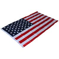 золотые украшения из тюля оптовых-87*148 см полиэстер США Американский национальный флаг - США Звезды США полосы флаги стран баннер для домашнего декора деятельности парада