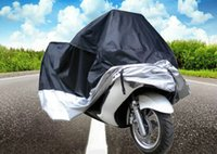 Wholesale Motorcycles Rain - MultiFunction Motorcycle Cover Polyester Taffeta Waterproof Rain Dust UV Protection Dustproof Covering Cloth with Storage Bag +B